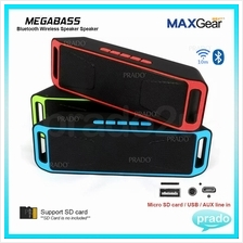 MAXGear Megabass Bluetooth Wireless Stereo Speaker USB AUX SD Call