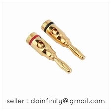 Gold Plated Open Screw Type Speaker Wire Banana Plug Connector New
