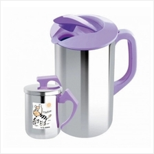 Zebra 1900ml Water Jug With Lid  & 350ml Mug Zelect - 184178