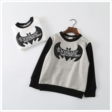 Kid Fashion Leather Bat Long Sleeve T-Shirt