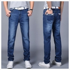 ccefcdfe4c7  MP 033  Man Long Jean Jeans Pants Half Formal Casual Straight Loose Plus  Size