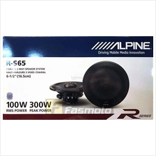 Alpine R-S65 R-Series 6.5 inch 2-Way Coaxial Car Speakers System 100W
