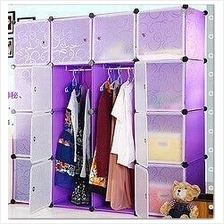 PURPLE PLAIN DIY WARDROBE - 16 CUBE