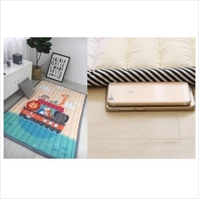 (KOREA) Animal On The Boat Kids Thick Mat (Selimut Tebal Bayi Budak) R