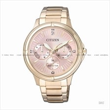CITIZEN . FD2033-52W . Eco-Drive W Multi-hand Swarovski SSB Rose Gold