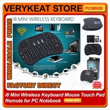 i8 Mini Wireless Keyboard Air Mouse Touch Pad Remote for PC Notebook