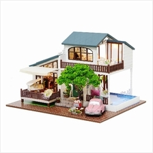 London Holiday with Light/Anti-dust cover DIY Miniature Doll House