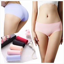 [Ready Stock] 8 Candy Color Seamless Ice Silk Panties RS008