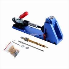 Pocket Slant Hole Jig Drill Locator Woodworking Toggle Clamp Tool