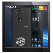 ★ NOKIA 8 (2017) Rugged Slim TPU Armor Case Carbon Fiber