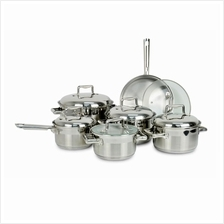 HETCH PRACTICAL SYSTEM S/S COOKWARE SET 12 PCS (5 YEARS WARRANTY)