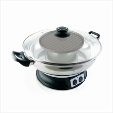 HONOR STAR 2 in 1 Electric Steamboat & Teppanyaki 1350W + 600W (Stainl