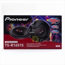 Pioneer TS-R1651S 6.5' 3 Way Coaxial Car Speakers Max 300W RMS 40W
