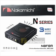 """Nakamichi NBF8A 8"""" 3 Way Mini Active Powered Subwoofer 150W RMS"""