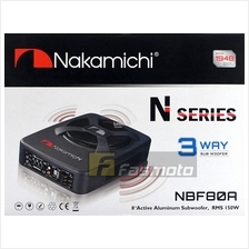 """Nakamichi NBF80A 8"""" 3 Way Active Powered Subwoofer 150W RMS"""