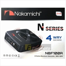 """Nakamichi NBF100A 10"""" (25.4cm) 4 Way Active Powered Subwoofer 180W RMS"""