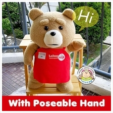 Apron Ted Holding Love Heart Plush Toy Doll Teddy Bear (46cm)
