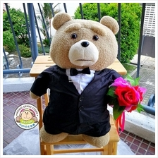 Suits Ted Holding Flower Plush Toy Doll Teddy Bear (46cm)