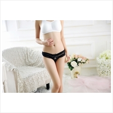 00206 BLACK EMBROIDERED BUTTERLY PANTIES