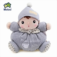 METOO STUFFED PLUSH DOLL TOY BIRTHDAY CHRISTMAS GIFT FOR BABY (LIGHT GRAY)