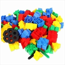 KIDS 60PCS 3D BRICKS BUILDING BLOCKS CREATIVE EDUCATIONAL TOY (COLORMIX)