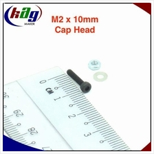 10 pcs M2 x 10mm Hex Socket Cap Head(Screw, nut and washer)