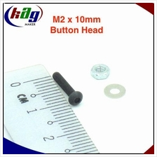 10 pcs M2 x 10mm Hex Socket Button Head(Screw, nut and washer)