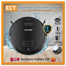 Evatronic Q7000 Multifunctional Robot Vacuum Cleaner with Zigzag Planned and W
