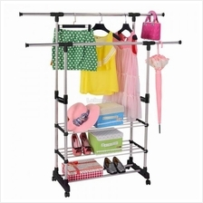 STAINLESS STEEL CLOTH HANGER AND ORGANIZER RACK