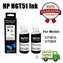 2X HP GT Series (HGT51) Hybrid REFILL Ink Black Color 100ML For GT 5810, GT582