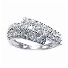 Elfi 925 Genuine Silver Engagement Ring M20 - The Glittering Wave