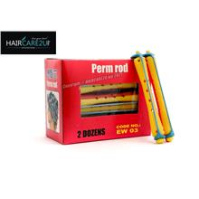 EW03 Hair Curlers Perm Rod (Red-Yellow) - 8mm (2doz)
