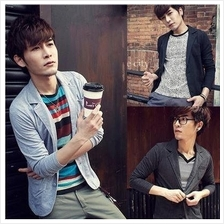 T0043880 Korean Men´s Slim Fit Small Suit Stylish Jacket(Two Button)