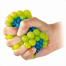 1 piece Mesh Squish Ball Stress Relief Squeezable Rubber BaLL Slime