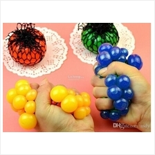12 pcs Mesh Squish Ball Stress Relief Squeezable Rubber BaLL Slime