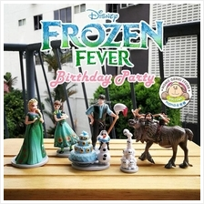 Disney Frozen Fever Birthday Party Figures Toy Doll Cake Topper 6pcs