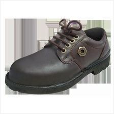 Safety Shoes Black Hammer Men Low Cut Lace Up Brown BH4602