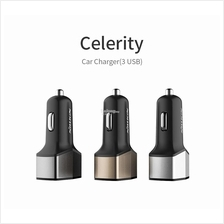 NILLKIN CELERITY 3 Port 6.4A Fast Charge Car Charger Type-C USB 5V 3A