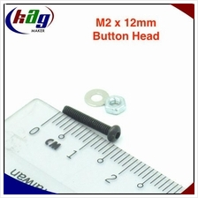 10 pcs M2 x 12mm Hex Socket Button Head(Screw, nut and washer)