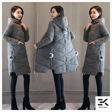 2017 Women's Thick Long Winter Jacket (8809)