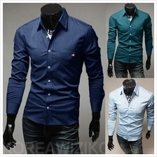 Men Long-sleeved Slim Fit Shirt (4 Color) MT590104