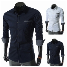 Men Casual Long-sleeved Slim Fit shirt (2 Color) MT590098