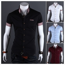Men Casual Plaid Short-Sleeved Shirt (4 Color) MT005387