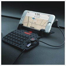 REMAX Car Phone Holder with Charger for Mobile Phone with 2 in 1 Cable