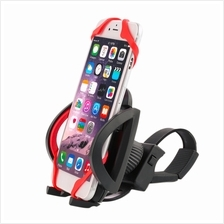 Motorcycle Bicycle Handlebar Phone Mount Holder With Silicone Band