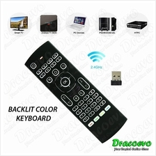 MX3 2.4G Backlit Wireless Keyboard Air Mouse Remote Android TV Box IPTV HTPC L