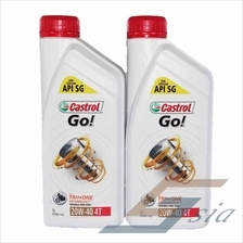 Castrol Go 4T 20W-40 Engine Oil (1 litre) x2
