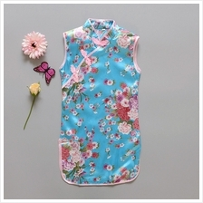CNY Traditional Chinese Kids Floral Girls Cheongsam Qipao - Design 022