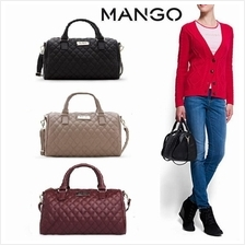 2016 MNG Mango Quilted Bucket Bowling Tote Bag