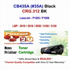 HP CB435A 35A P1005 P1006 CRG 312 Toner Compatible * NEW SEALED *